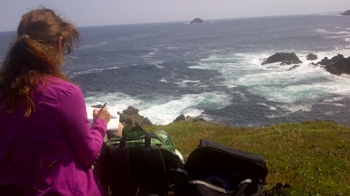 Writing Poetry at Twillingate Newfoundland