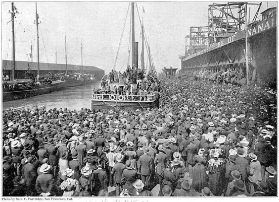 The Excelsior leaves San Francisco for Klondike July 28, 1897