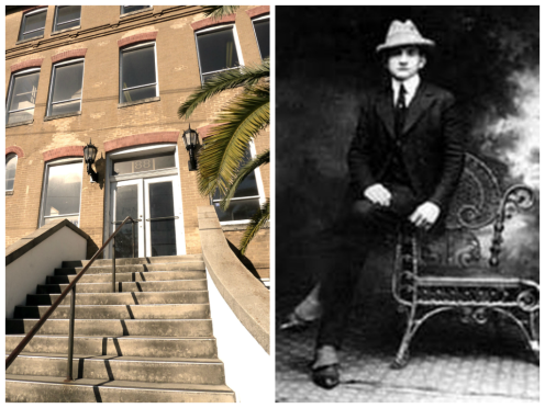 Left Photo (Historic Martinez, Solla, and Carcaba Cigar Mfg, St. Augustine, Florida Photo by Gwen Tuinman) Right Photo: (Joacquita de la Llana, Lector, 1929, Ybor, Photo courtesy of USF-Tampa Special Collections)