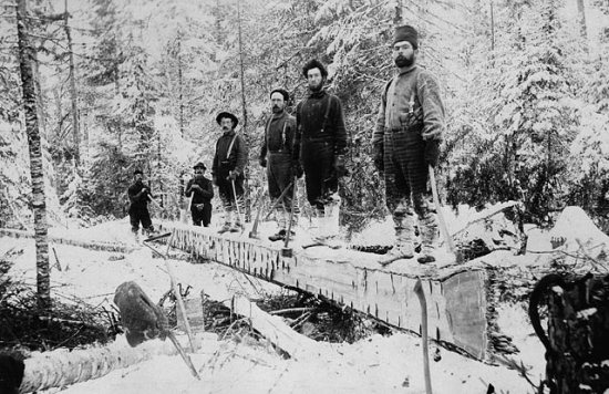 Booth_lumber_camp_Aylen_Lake_Ontario_1895_ source_Library and Archives Canada backslash C dash 075266