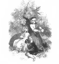 Illustration from Canadian Crusoe's by Catherine Parr Traill