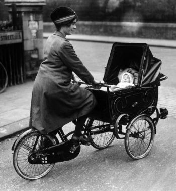 bicycle and pram