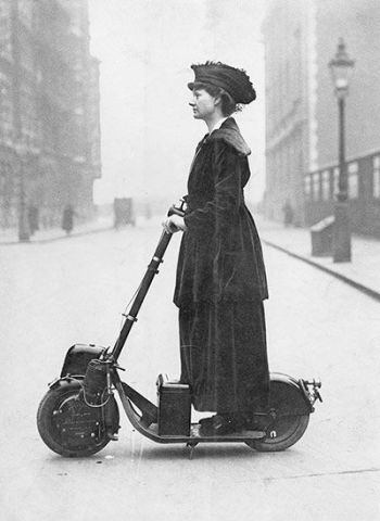 Lady Florence Norman motor scooter 1916