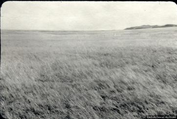 A view of the prairie as seen the the early settlers (Source: Everett Baker via saskarchives.com)
