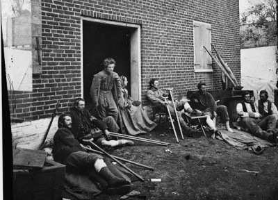 Soldiers wounded at Fredricksburg