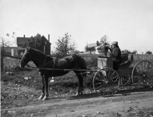 Rural mail delivery in Canada (source: Library and Archive of Canada)