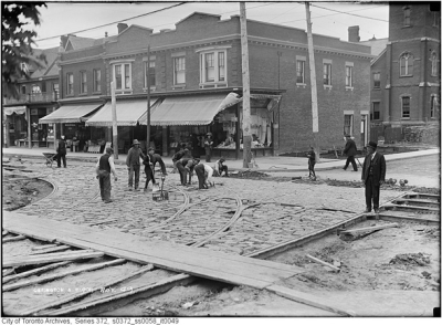 1911 Ossington and Bloor 2 blocks south of James and Margarets house in Jan 1915