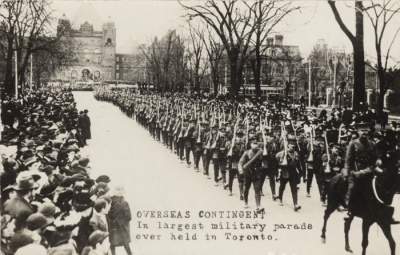 largest military parade in toronto history 1915
