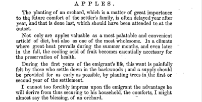 """Excerpt from """"The Canadian Settler's Guide"""" By Catherine Parr Strickland Traill (1857)"""