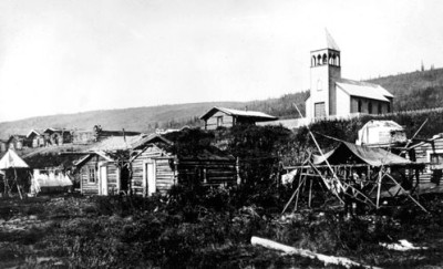Anglican church at Mosehide, a village 5 km from Dawson (Photo credit: Yukon Archives)