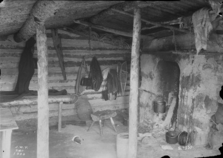 Interior of a shack