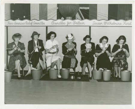 Australian participation in war knitting marathon at New York's world fair 1939-1940 (Photo Source: NYPL Digital Library Archive)